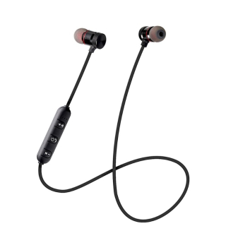 Casti bluetooth wireless in ear, prindere magnetica, microfon, butoane volum